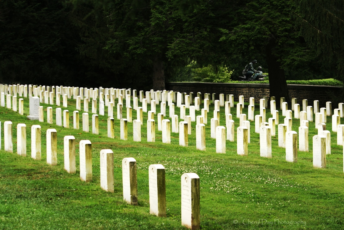 Photograph of a Gettysburg cemetery.
