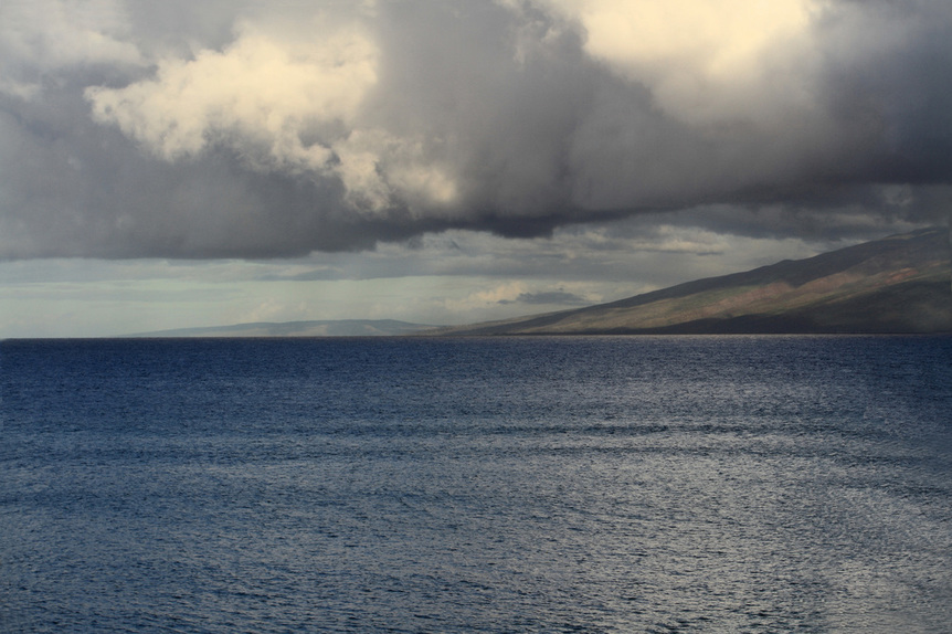 Photograph of standing on the island of Maui and looking out to sea.